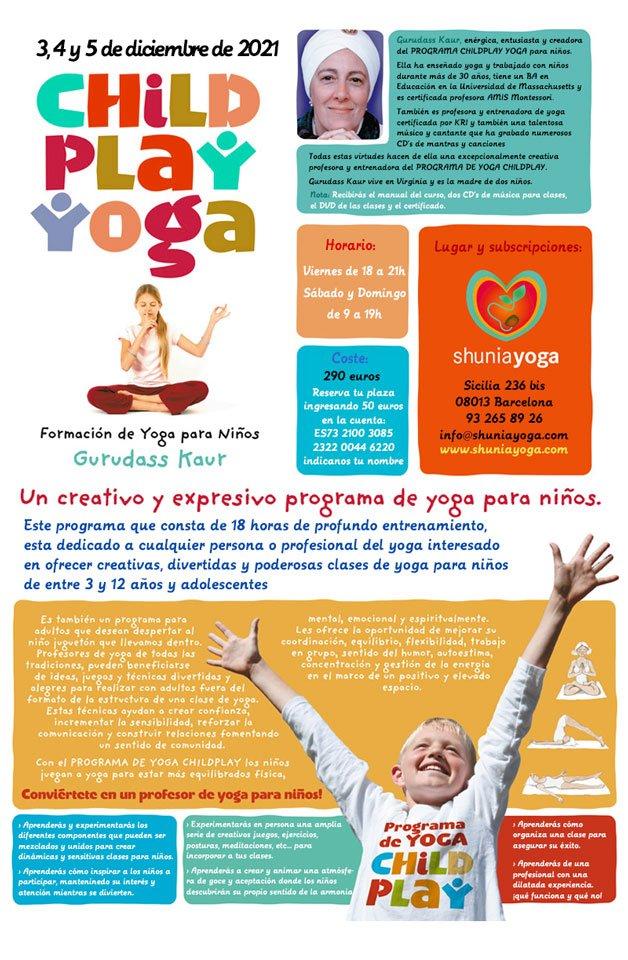 Formación Childplay Yoga con Gurudass Kaur