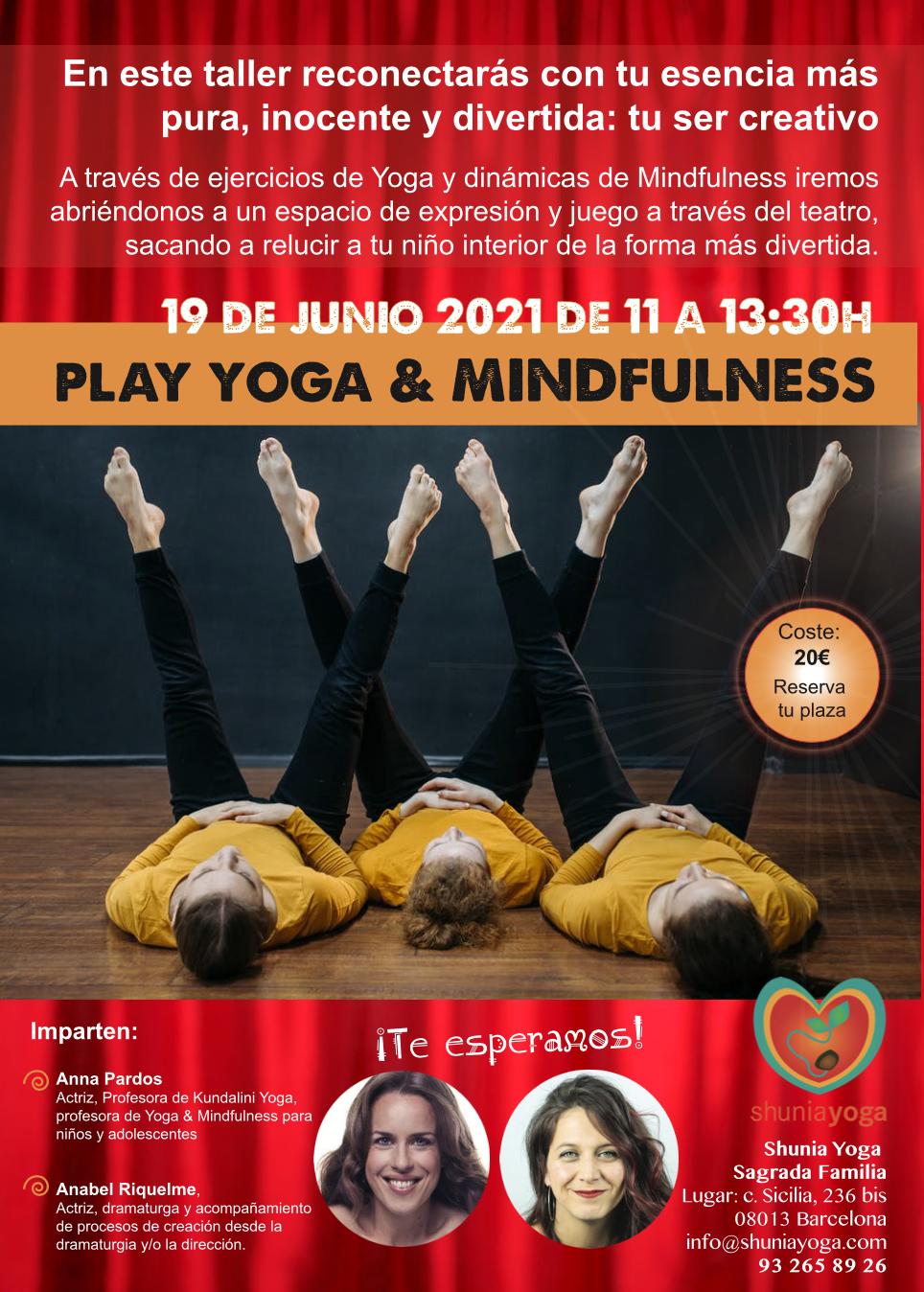 Taller Play Yoga & Mindfulness con Anna Pardos y Anabel Riquelme