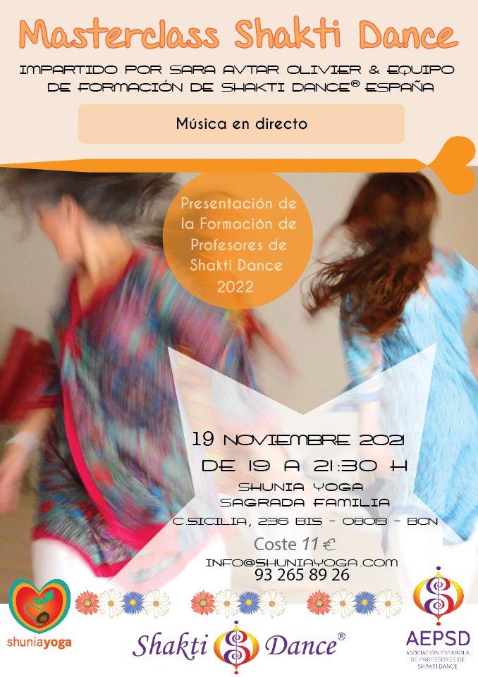 Masterclass y Presentación de la Formación internacional de Profesores de Shakti Dance 2022