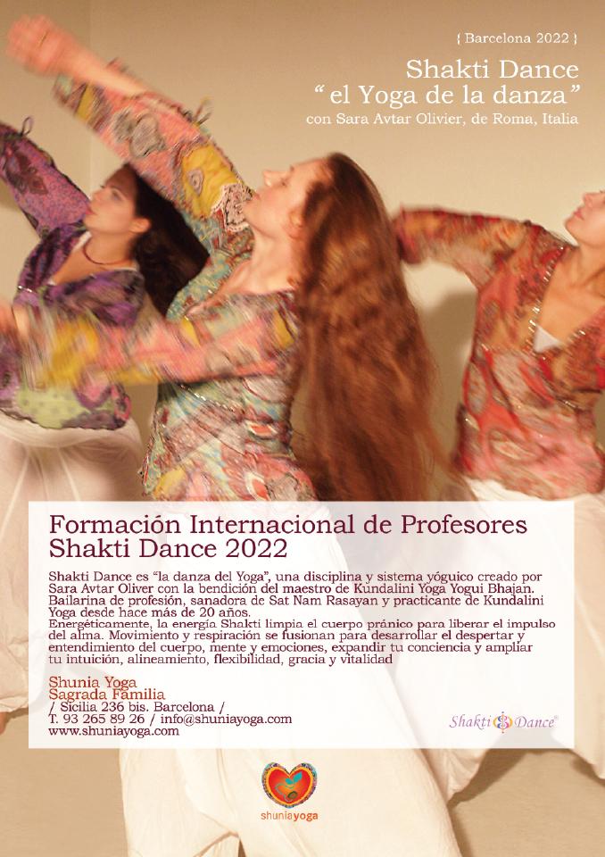 Formación Internacional de Profesores de Shakti Dance® 2022 en Barcelona, con Sara Avtar Olivier & equipo Español de Formación