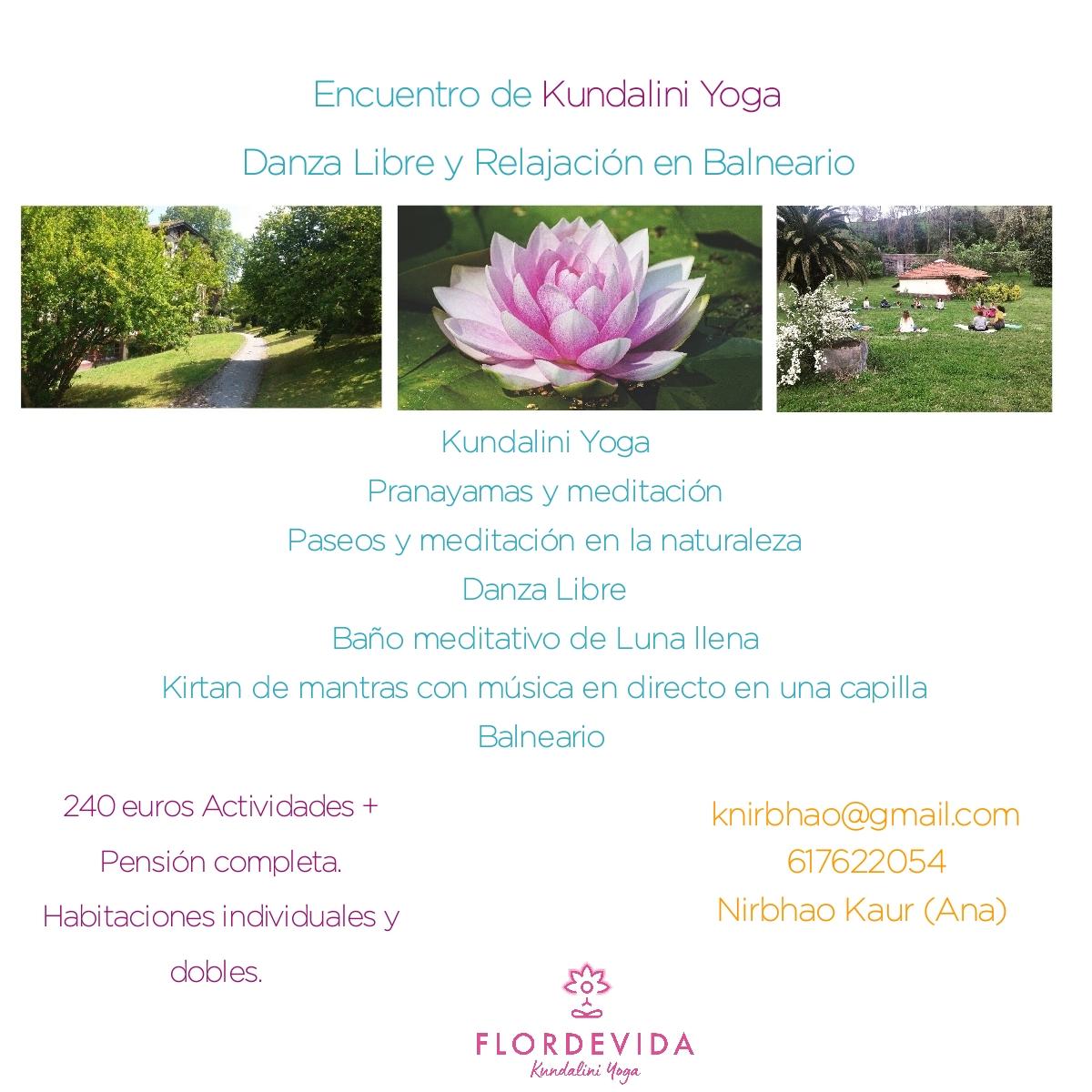 Retiro de Kundalini Yoga en la naturaleza y en Balneario de Vizcaya.