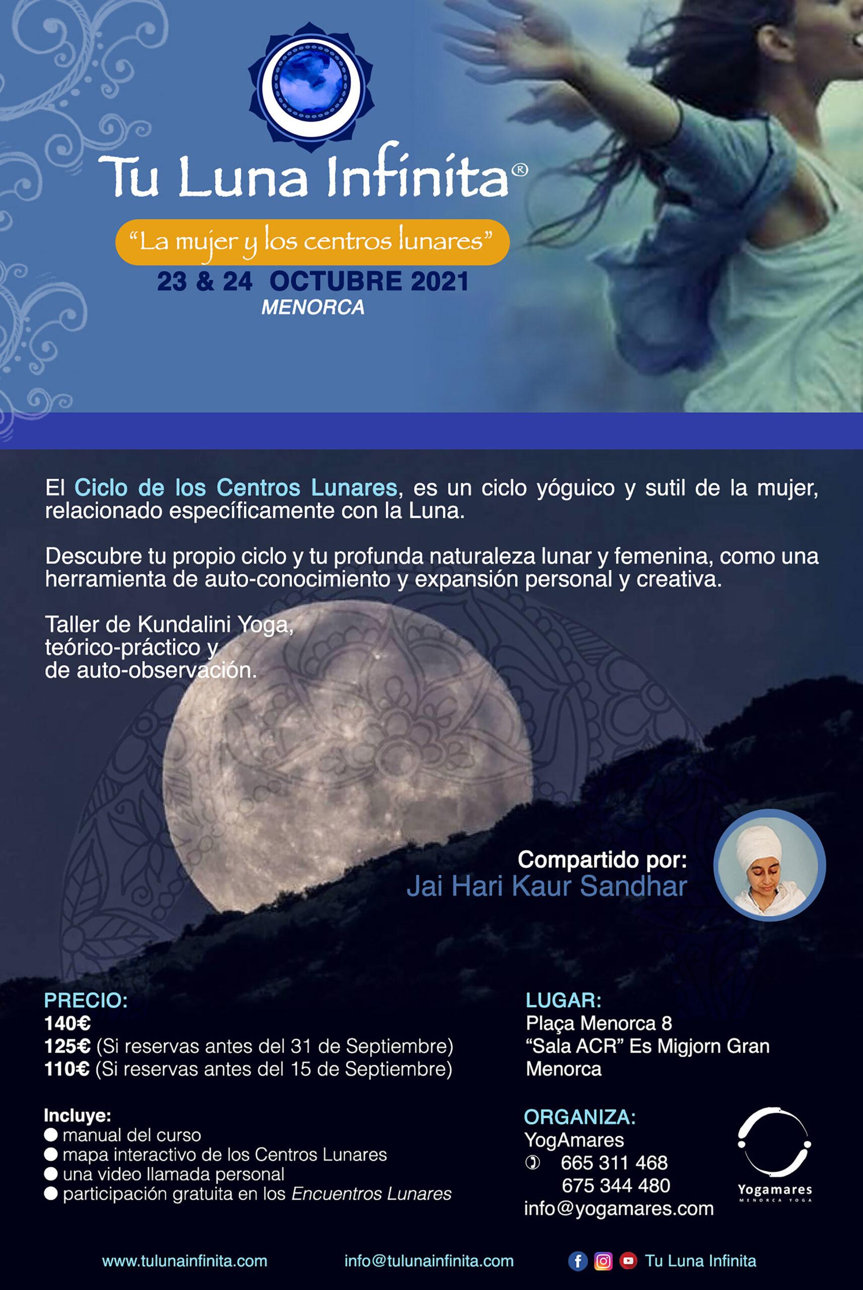 Taller Tu Luna Infinita: La Mujer y los Centros Lunares